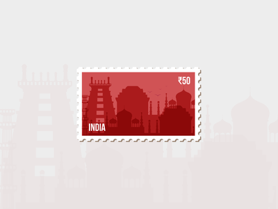 India Stamp india design dream destination stamp weekly challenge weekly warm-up