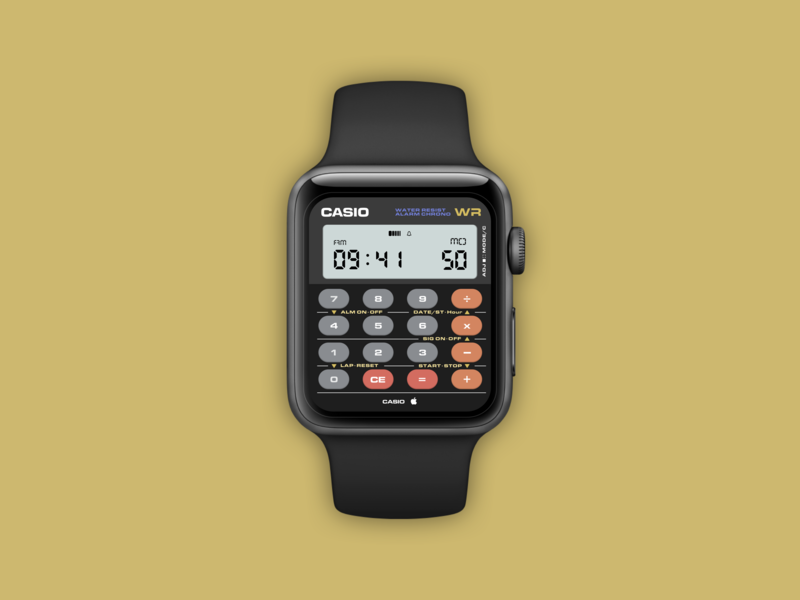 Casio X Apple Calculator Watch - Day 004 casio apple watchos prototype typography vector ui userexperience sketchapp mobile minimal inspiration dailyinspiration creative branding mobiledesign interface digitaldesign design dailyui