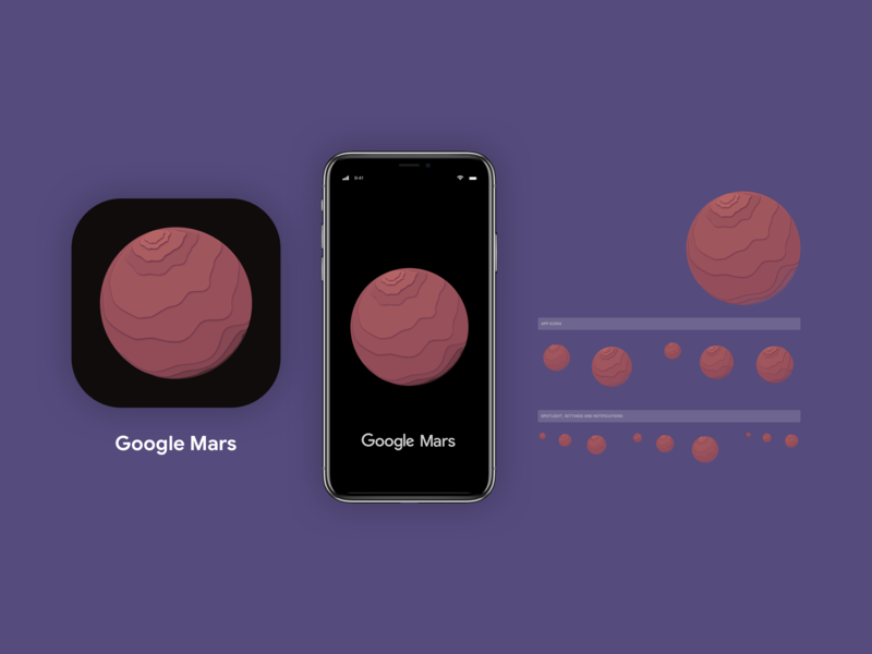 App Icon! Google Mars - Day 005 icon inspiration dailyinspiration vector art minimal creative branding mobiledesign interface ux prototype mockup app google vector ui logo digitaldesign design dailyui