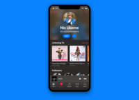 User Profile! Apple Music (Dark Mode) - Day 006