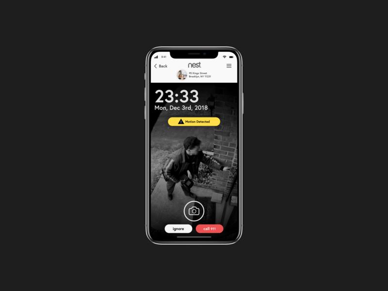 Monitoring Dashboard • Nest App • Day 021 web uxui mobile flat app dailyinspiration branding inspiration vector ux prototype userexperience minimal mobiledesign ui digitaldesign creative interface design dailyui