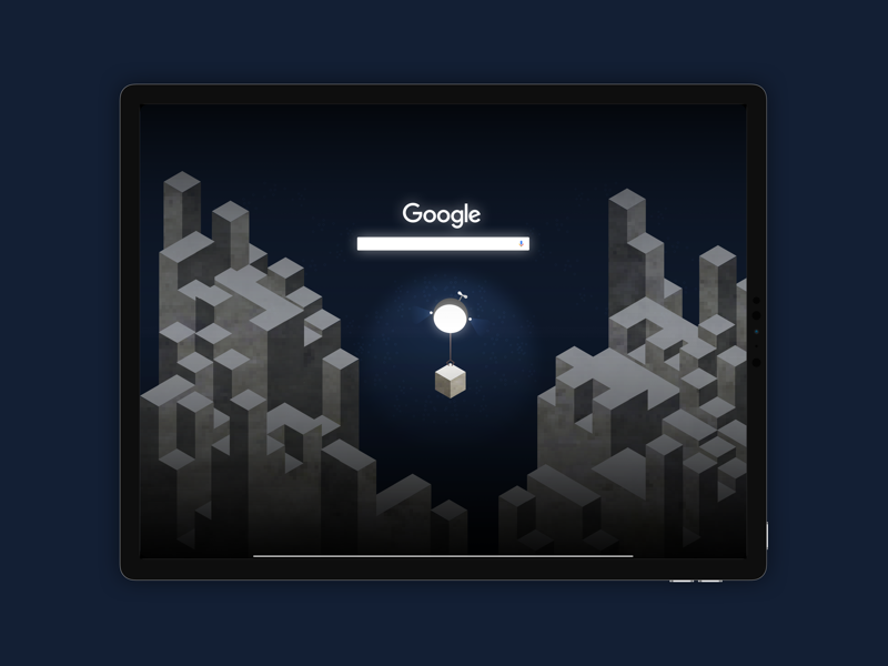 Search • Google Doodle • Day 022 art vector minimal illustration isometric flat uxui ux landing page google uitrends ui uidesign