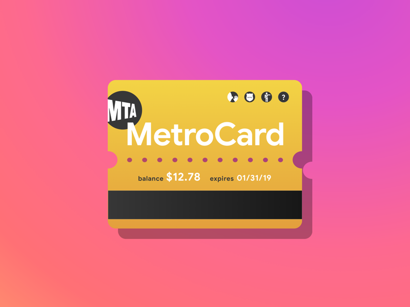 Boarding Pass • Digital MetroCard Concept • Day 024 digital design typography icon app b2c web gradient mobile vector concept illustration uxui ux uichallenge uitrends daily ui