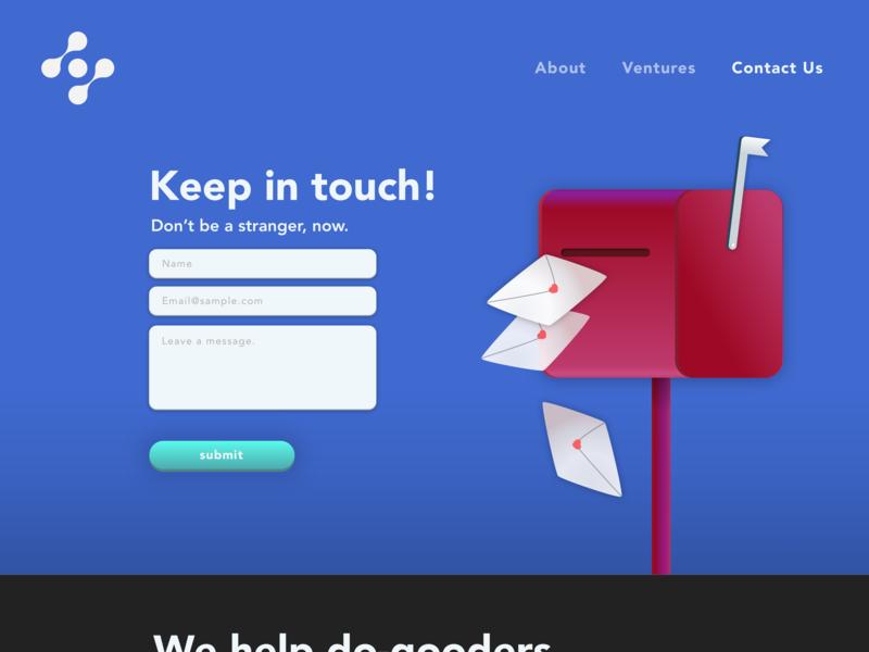 Contact • Keep in touch • Day 028 web mobile app flat uxui dailyinspiration branding inspiration prototype vector ux userexperience mobiledesign minimal digitaldesign ui creative interface design dailyui