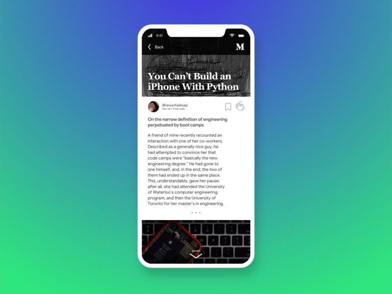 Blog Post • Medium Redesign • Day 035 web mobile app flat uxui dailyinspiration branding inspiration prototype vector ux userexperience mobiledesign minimal digitaldesign ui creative interface design dailyui