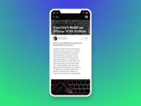 Blog Post • Medium Redesign • Day 035