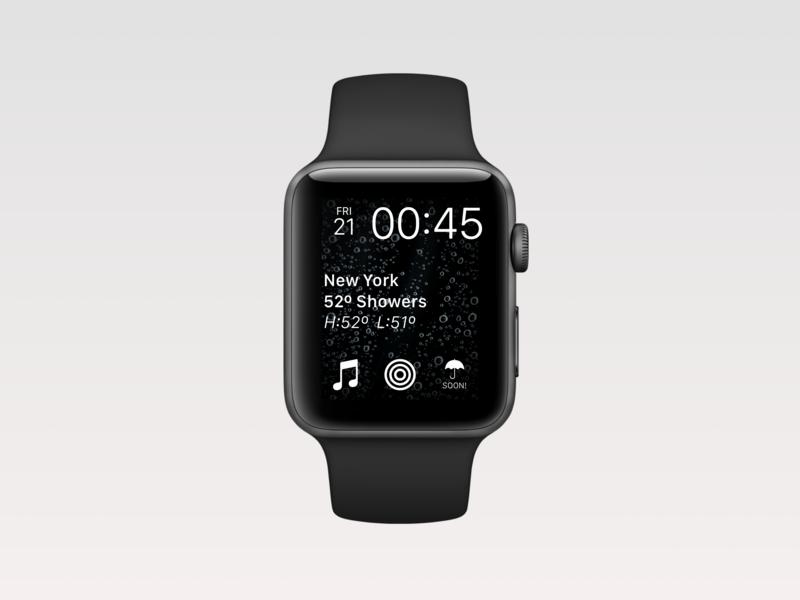 Weather • Apple Watch Face •Day 037 web mobile app flat uxui dailyinspiration branding inspiration prototype vector ux userexperience mobiledesign minimal digitaldesign creative ui interface design dailyui