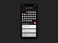 Dark Calendar • Concept App • Day 038