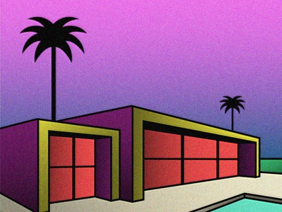 Relaxing Dusk modern simple design architecture vector illustration graphic design