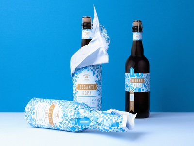 Limited Winter Edition Beer Bėganti Kopa Label Design