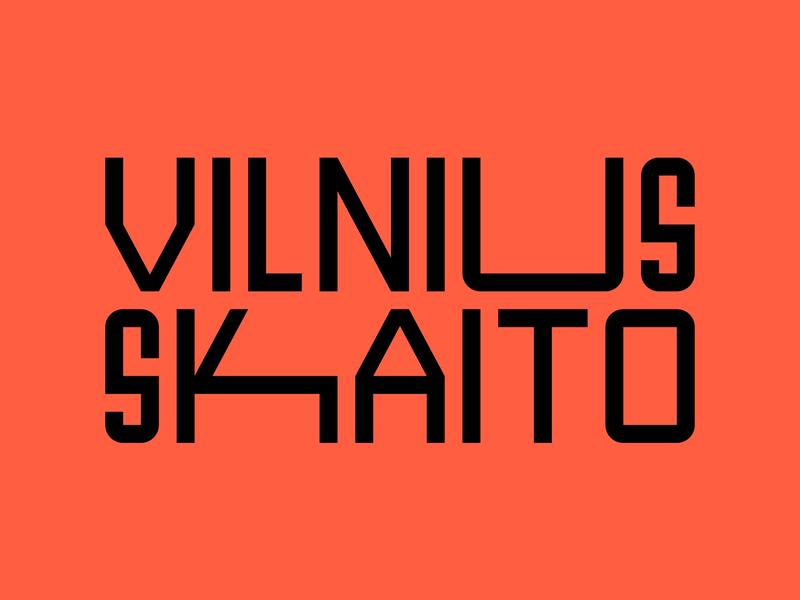 Vilnius Skaito / Vilnius Reads Branding vilnius reading book branding book wordmark symbol monogram identity minimal logotype logo typography brand branding