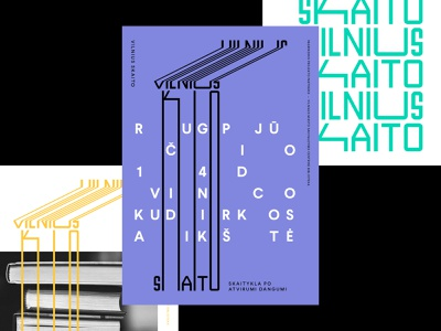 Vilnius Skaito / Vilnius Reads Branding print poster art vilnius reading book poster design poster design wordmark symbol identity minimal logotype logo typography brand branding