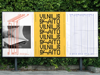 Vilnius Skaito / Vilnius Reads Branding posters reads vilnius book wordmark symbol monogram identity minimal logotype logo typography brand branding