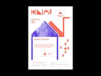 Poster for film festival Kino Karavanas - Movie Caravan movie festival poster design poster movie poster movie film poster film wordmark design symbol identity minimal logotype logo typography brand branding