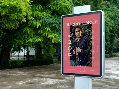 Poster for Filippo Loreti watches editorial filippo loreti watches watch fashion poster wordmark symbol identity minimal logotype logo typography brand branding