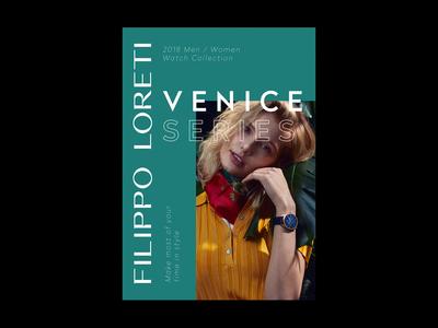 Poster for Filippo Loreti watches watches fashion poster identity minimal logotype logo typography brand branding