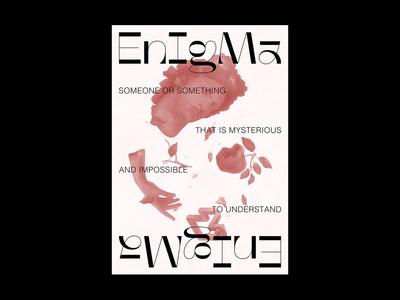 ENIGMA Poster digital illustration poster design enigma poster design illustration symbol identity minimal logotype logo typography brand branding