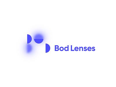 Bod Lenses Logo & Visual Identity blur visual identity lithuinia lenses wordmark design symbol identity minimal logotype logo typography brand branding