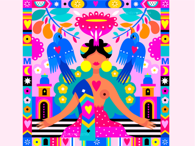 Mexican Folklore 2 pattern icon icon set illustrator