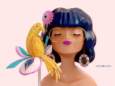 3D Tropical Girl character 3d animation 3d art 3d illustrator