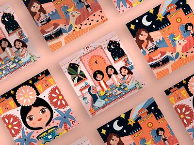 Badla packaging design illustrations branding