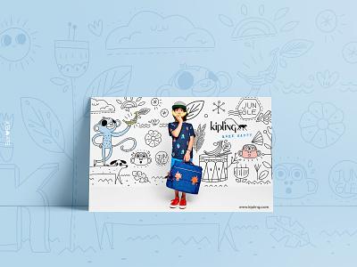 Kipling Bts 2016 advertising campaign illustration
