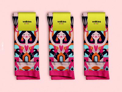 Walkies product design illustration