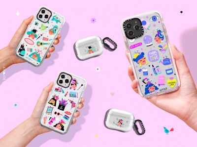 Casetify casetify cell phone cases product design character design illustration