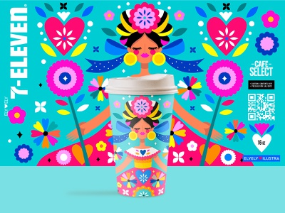 7Eleven National Holidays Edition coffee packaging product design illustration