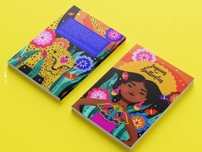 Jaguars and butterflies latina mujeres latinas book cover book illustration illustration