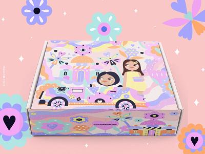 Badla Boxes packaging design illustration packaging