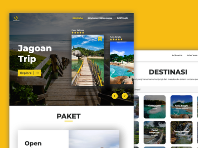 Jagoan Trip - Web Design desainweb webdesign uxdesign uidesign website designweb ux web ui design