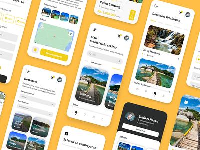 Jagoan Trip App Design - Light Mode uxdesign landingpage mobile appdesign design uidesign uiux ux ui