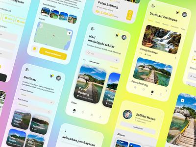 Jagoan Trip App Design - Glassmorp Mode appdesign uidesigns uxdesigns mobile ui design uidesign ux uiux ui