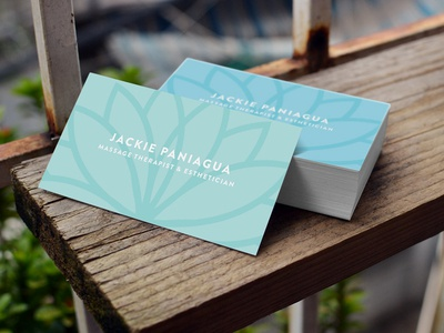 Massage therapist esthetician business cards by jen jewell dribbble massage therapist esthetician business cards colourmoves