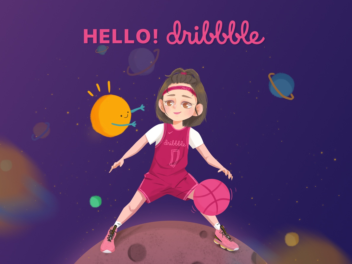 Hello Dribbble! design app illustration