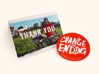 Thank You Card & Sticker