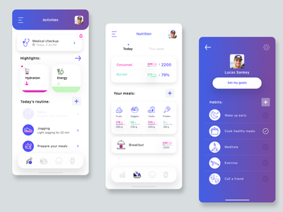 Health app app user flows user experience uidesign sketch prototype uxinspiration health app uxdesign uiinspiration ux dailyui lifestyle health