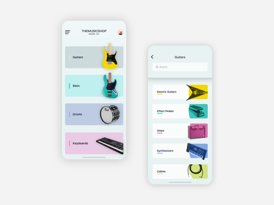 music shop design concept user flows user experience uidesign prototype sketch uxinspiration ui ux instruments guitars online shop ecommerce music