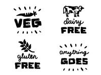 Potluck Foodie Labels