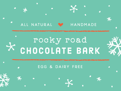 chocolate bark labels - teal