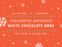 chocolate bark labels - red