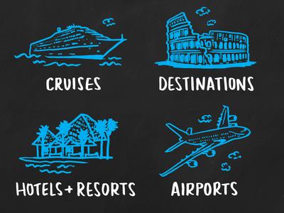 travel spot illustrations