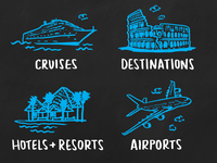 travel spot illustrations