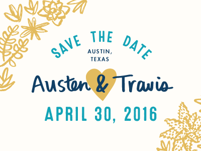 Save the Date! typography texas cactus illustration handmade icons wedding succulents stationery lettering hand lettering design