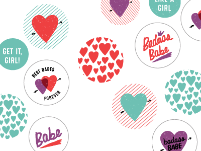 Galentines sneak peek handmade galentines day illustration doodles personal work babes buttons typography galentines hearts hand drawn lettering