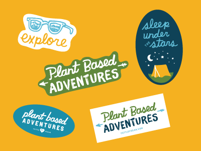 Unused sticker design concepts