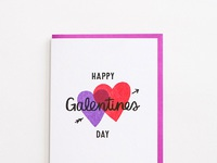 Happy galentines day card single
