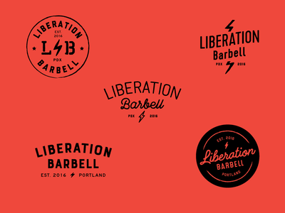 Liberation Barbell unused logo concepts