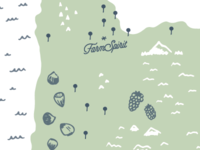 Cascadia map for Farm Spirit
